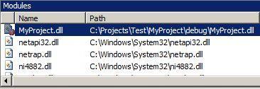 Visual Studio Debugger Modules