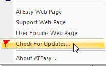 ATEasy 2021 Check for Updates