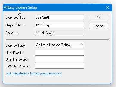 ATEasy 2021 Online License Activation
