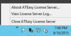 License Server -Taskbar