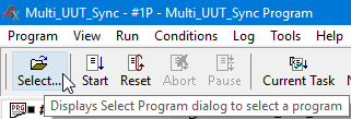 Click to display the Select Program Dialog