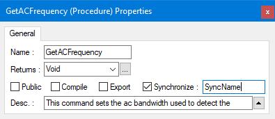 ATEasy Synchronization Properties
