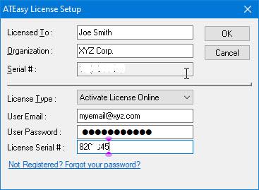 ATEasy License Online Activation