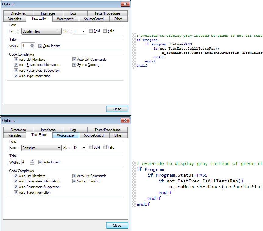Text Editor is used to modify the way source code is displayed