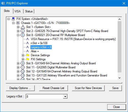 PXI/PCI Explorer.