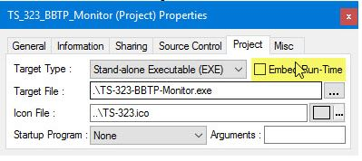 Embed Run-Time when creating EXE/DLL
