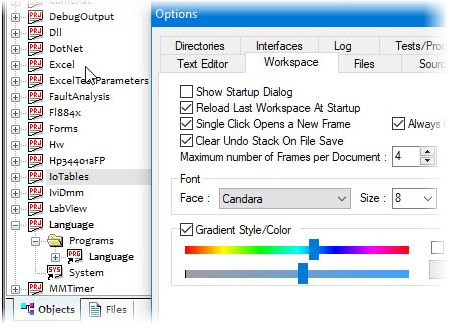 Option to set the IDE/Workspace Font