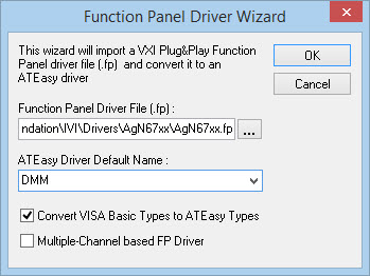 ATEasy Import Function Panel Wizard