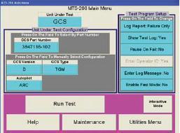 MTS-207 Menu Driven Control