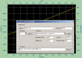 Creating an RS170 Video Signal with WaveEasy