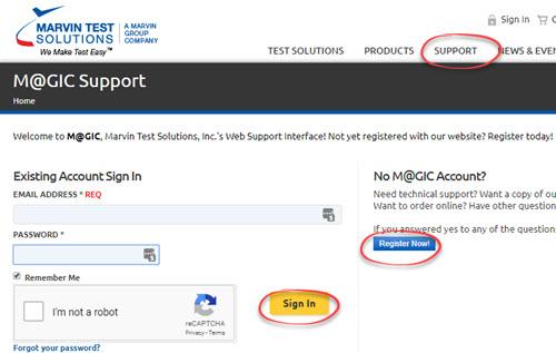 Support Login/Register