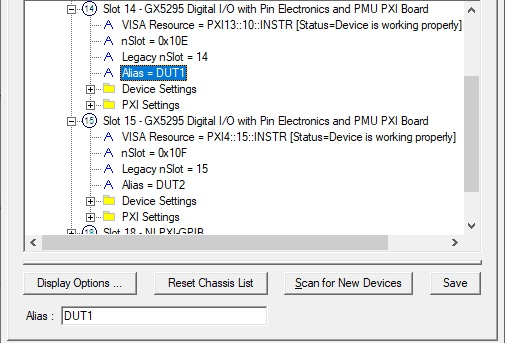 Modifying Alias in PXI/PCI Explorer