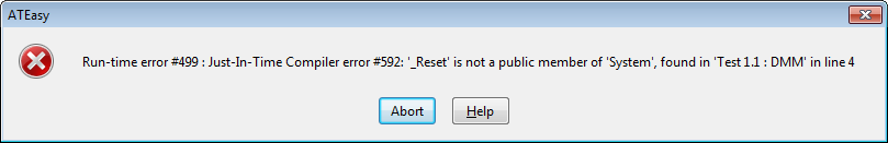 Error Dialog that displays when a referenced procedure is out of scope