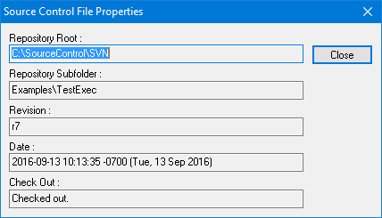 Source Control File Properties