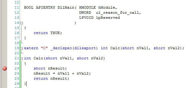 Visual Studio Debugger Break Point