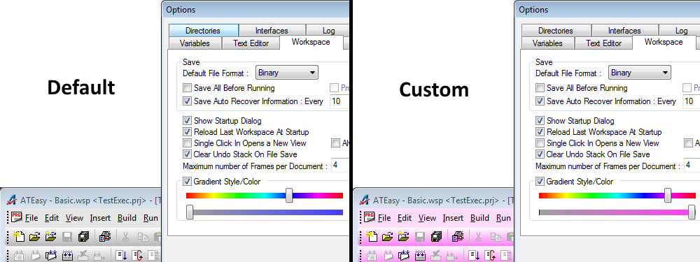 Color Customization of the IDE