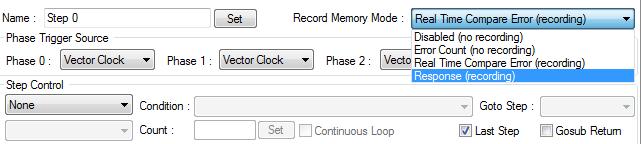 Record Mode Selection
