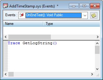GetLogString() in System.OnEndTest.
