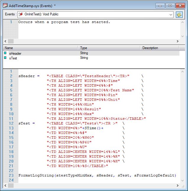 FormatLogString in System.OnInitProgram().