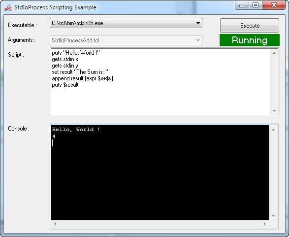 TCL Scripting using StdIoProcess
