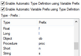 ATEasy 9.0 Automatic Type Prefix