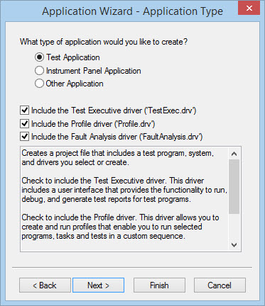 ATEasy Application Wizard