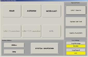 TS-217 LAU-7 Power Supply Selection Screen