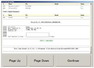 TS-217 Test Log View Screen