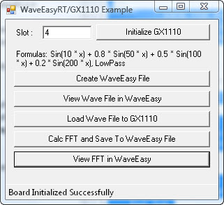 WaveEasy Run-Time Example